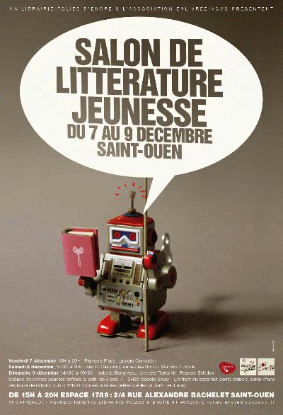 Salon littérature jeunesse 7-9 décembre 2012 Saint-Ouen